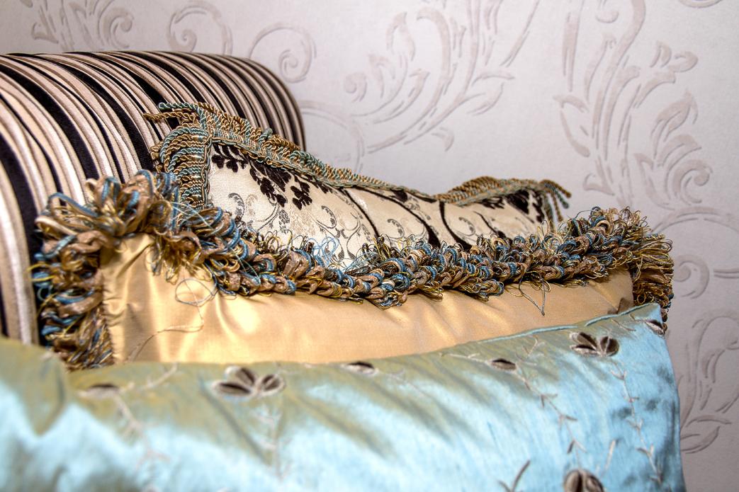 Projet cottage beauchamp design d int rieur interior - Coussin banquette sur mesure ...